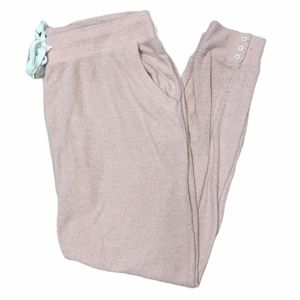 Z SUPPLY Women's Pink Ribbed Joggers with Pockets